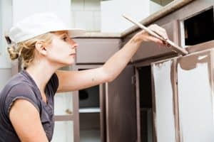 painting wooden cabinets