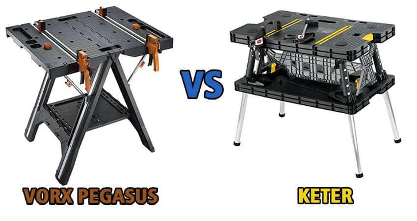 Worx Pegasus vs Keter – Which Workbench is Better For Woodworking